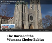 Burial of Womans Choice Babies
